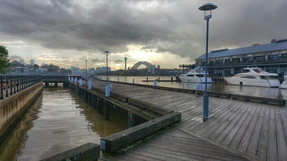 Sunrise Bridge Sydney Harbour Bridge Wharf Galaxys6 Clouds Clouds And Sky