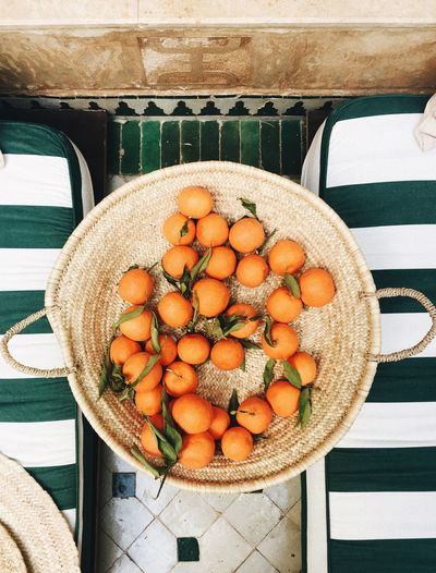 fruits Healthy Eating Food And Drink Fruit Freshness Orange Color Food High Angle View Day Table Citrus Fruit No People Close-up Basket Indoors