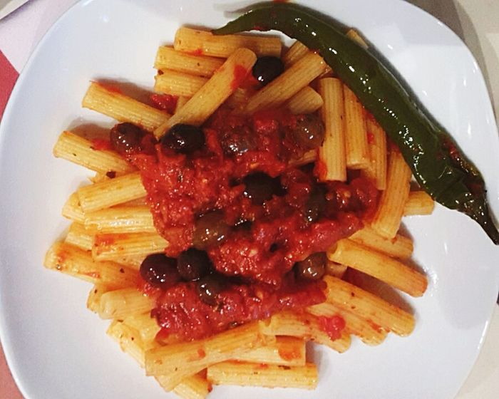 Food Food And Drink Ready-to-eat Plate Day High Angle View Indoors  No People Sweet Food Close-up Dried Fruit Freshness Pasta Time Pasta For Lunch Pasta Italiana Pasta Lover Peperoncino Peperoncino Piccante First Eyeem Photo