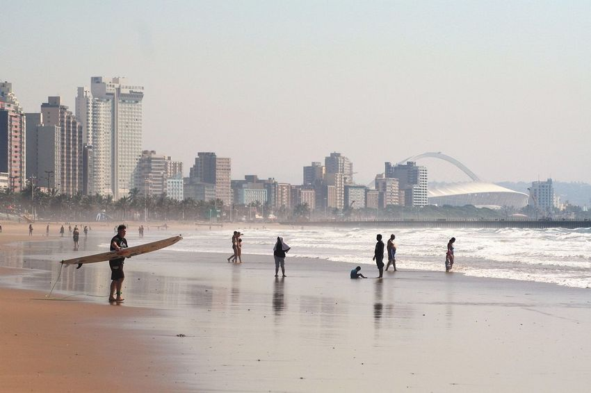 Architecture Blue Wave Built Structure Capital Cities  City City Life Cityscape Durban Beachfront Leisure Activity Shore Skyline Skyscraper Tall - High Tourism Travel Destinations Urban Skyline Alternative Fitness Lost In The Landscape Be. Ready.