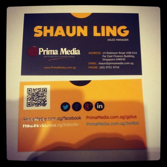 My newly designed company business card.. How's the design? Business Businesscard Namecards