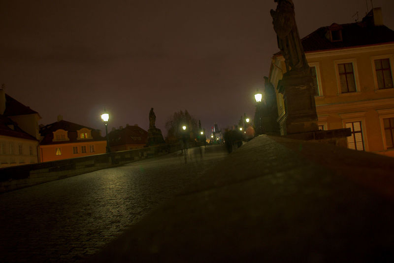 Night is for walkers. City Life Ghost Ghosts Karlův Most Night Photography Nightphotography Sony A350 Tourist Attraction  Architecture Bridge Building Exterior Built Structure City Illuminated Karluvmost Night Sky Slow Shutter Tourist Destination