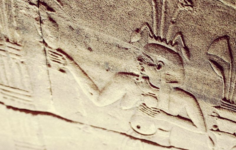 Ancient history of Egypt Full Frame Architecture Carving - Craft Activity Egypt Aswan, Egypt