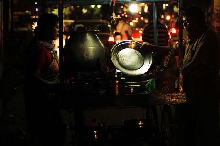 Road Side Shop Kai Endi Bhavan Lightshow Colours