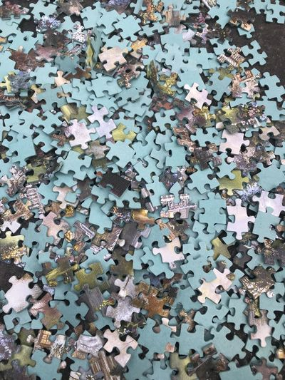 Puzzle Abundance Backgrounds Chaos Connection Creativity Day Design Excess Full Frame High Angle View Indoors  Jigsaw Piece Jigsaw Puzzle Large Group Of Objects Multi Colored No People Pattern Puzzle  Shape Solution Still Life Studio Shot