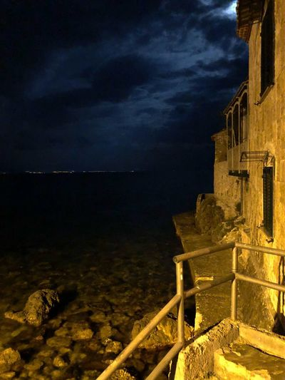 Castle sea and moon Sea Moon Castke Sky Water Night Nature Cloud - Sky Architecture Sea