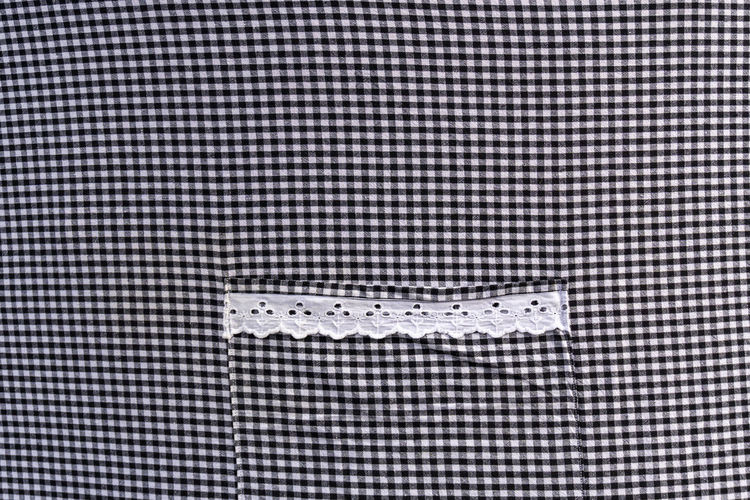 Berlin, Germany, September 22, 2018: Full Frame Close-Up of Checkered Cloth with Lace Berlin Germany 🇩🇪 Deutschland Color Image Horizontal Outdoors No People Checkered Pattern Fabric Pattern Backgrounds Full Frame Close-up Textured  Repetition White Color Copy Space Lace Lace - Textile Day Copy Space Textured  Textured Effect Black And White Cloth