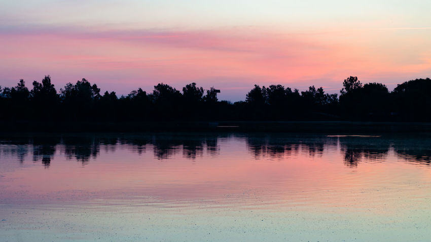 Sunrise, lake, silhouette, colours Beauty In Nature Cloud - Sky Idyllic Lake Nature No People Non-urban Scene Orange Color Outdoors Plant Reflection Romantic Sky Scenics - Nature Silhouette Sky Sunset Tranquil Scene Tranquility Tree Water Waterfront