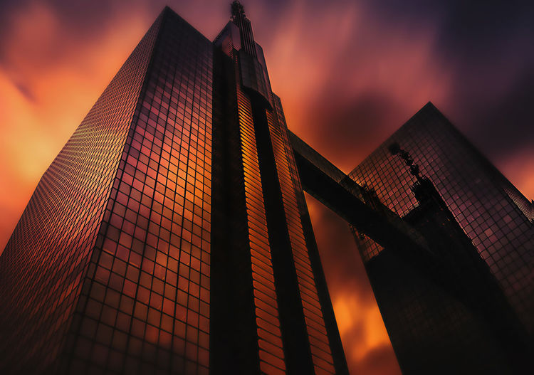 Brussels Belgium Remo SCarfo Built Structure Architecture Building Exterior Sky Building Low Angle View Sunset Office Building Exterior Cloud - Sky Nature No People City Office Outdoors Skyscraper Modern Orange Color Tower Tall - High Travel Destinations