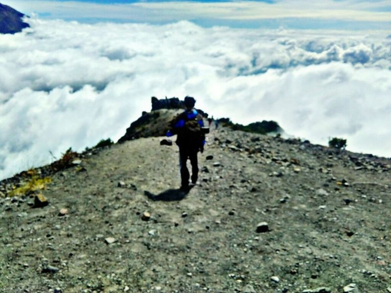 A road to heaven (?) Adventure Full Length Backpack Hiking One Man Only One Person Mountain Cloud - Sky Walking Only Men Adult Adults Only Standing People Day Landscape Outdoors Nature Climbing Sky First Eyeem Photo