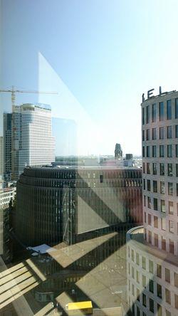 reflections... Window Reflections Urban Landscape Inside Through The Window Skyscraper Berlin Berliner Ansichten 43 Golden Moments The City Light