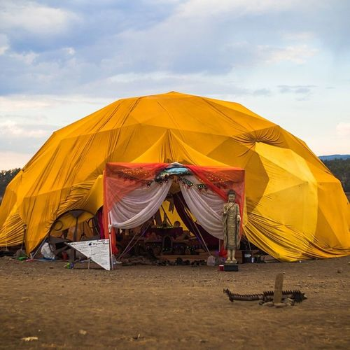 Meditated here for a few hours.... Then raged Festival Festi Dome Domedaze Yellow