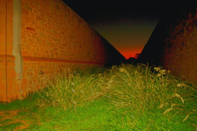 Gladstone Gaol South Australia walls Gaol Walls Sunset