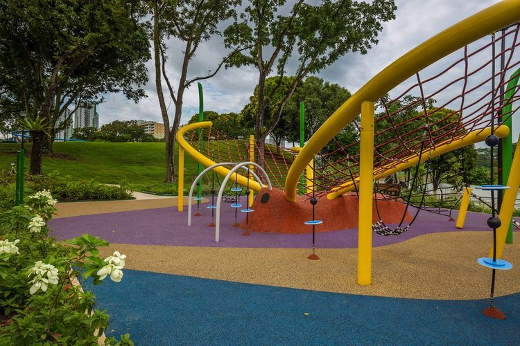 The Butterfly Playground 2 @ Marsiling Park, previously known as Woodlands Town Garden. This was a bit challenging to take a nice photo of when I went by in June 2018. Oh. Nearby there is an actual butterfly garden too! Public Playground Public Park Butterfly Day Multi Colored No People Outdoor Play Equipment Outdoors Park Playground
