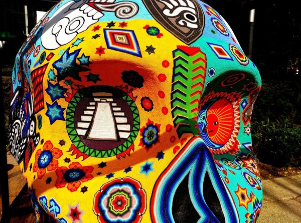 Calaca Multi Colored Art And Craft Pattern Personal Perspective Colours And Patterns Lovephotography  Movilephotography Mexico City Mexicolors MéxicoD.F. Calaca Calaverasdemexico Df