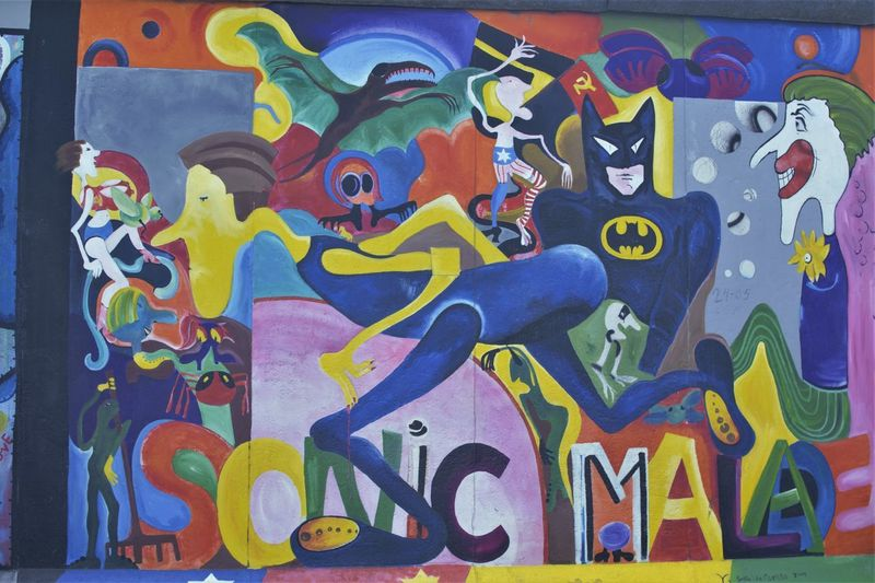 Batman Berlin Berlin Photography Berlin Wall DDR Arts Culture And Entertainment Berlinart Modern Gallery Multi Colored