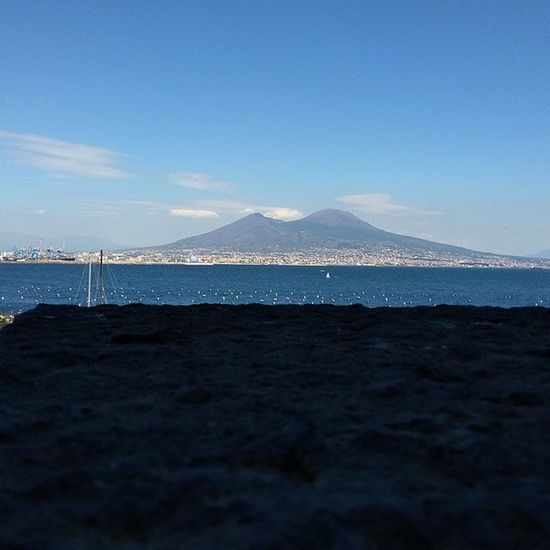 Ah. View Napoli Vesuvio Vesuvius  Mountains Mountain Mountain View Naples Sea Seaside Sky Horizon Horizon Over Water View Beautiful Beauty Bella Bellezza Photography Photo Visiting Traveling Travel Taking Photos Life