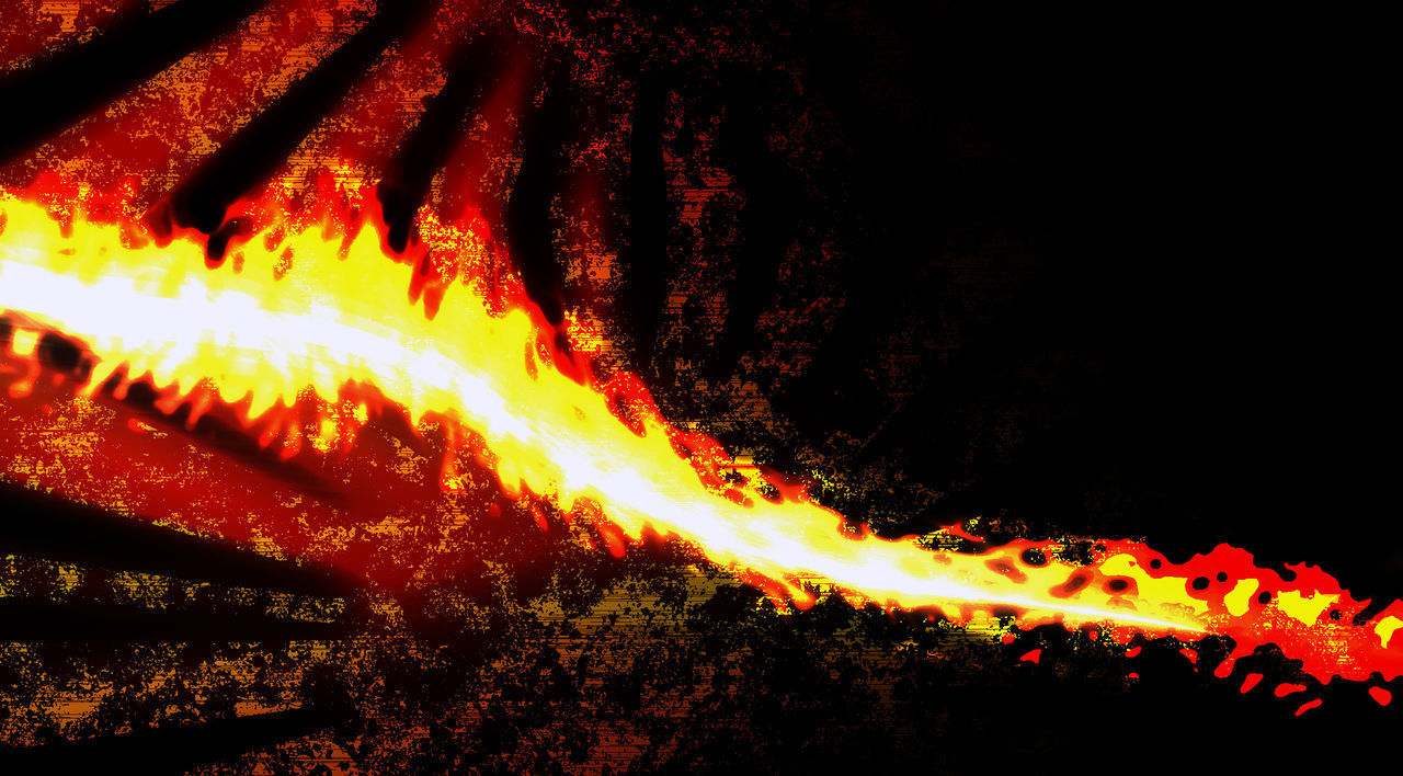 heat - temperature, glowing, flame, night, motion, no people, burning, outdoors, nature, red, close-up, illuminated, molten