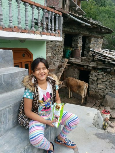 Enjoying the local culture at local villagers house Sangla