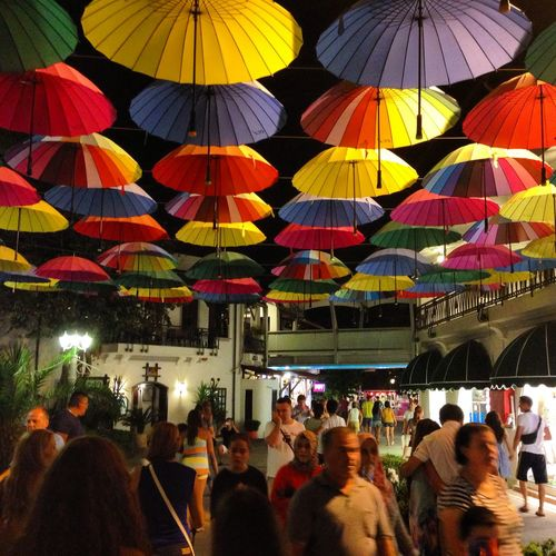 Marina Colorful Umbrellas Great Places
