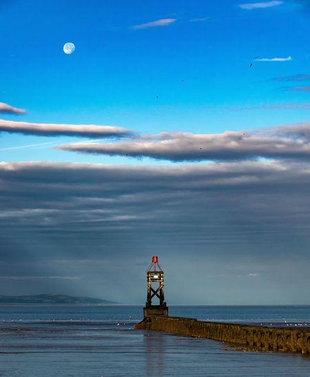 Crosby Beach Crosby Moon Mersey River Mersey Merseyside Sea And Sky Sky And Clouds The Great Outdoors - 2017 EyeEm Awards