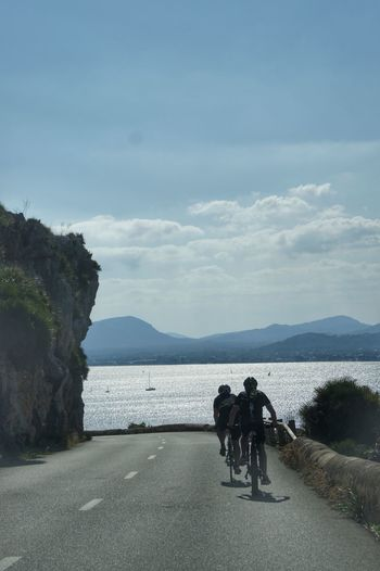 Cap Formentor Mallorca SPAIN Beach Beauty In Nature Bicycle Cycling Day Leisure Activity Lifestyles Men Mode Of Transport Mountain Nature Outdoors People Real People Road Scenics Sea Sky Togetherness Tranquility Transportation Water