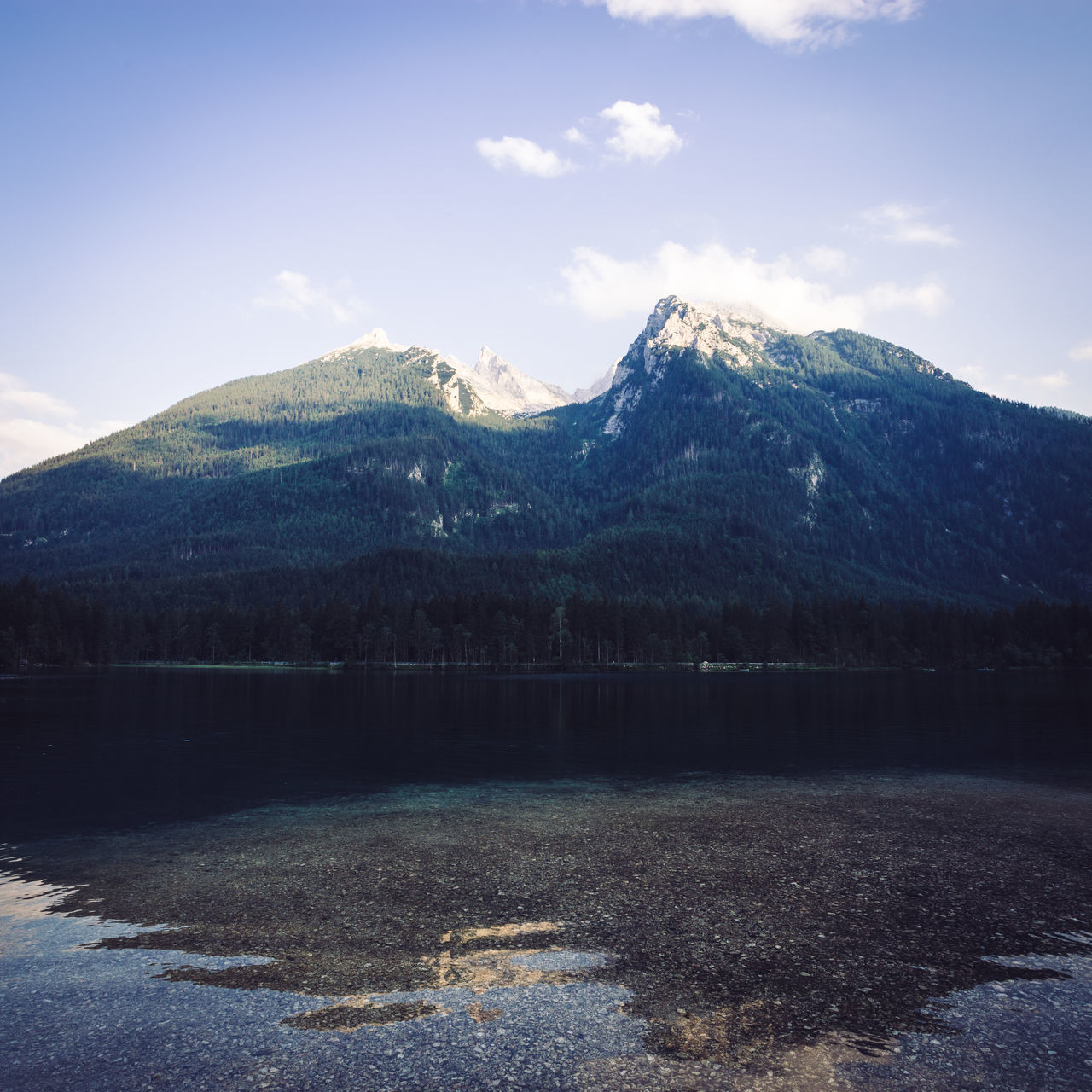 mountain, lake, beauty in nature, nature, sky, tranquility, snow, landscape, scenics, no people, outdoors, peak, scenery, day, range