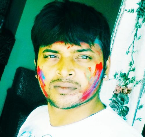 Festival of holi playing with colors....