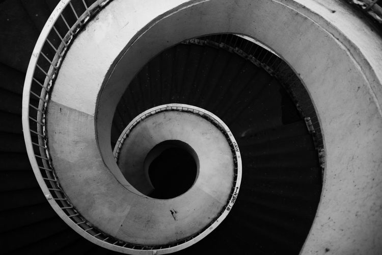 Architecture Circle Close-up Staircase Arch Steps And Staircases Blackandwhite Black And White B&w Monochrome Nikon Black & White Circle Line Perspective Perspectives Live For The Story The Architect - 2017 EyeEm Awards Place Of Heart Let's Go. Together. EyeEm Selects Breathing Space Your Ticket To Europe Black And White Friday EyeEmNewHere