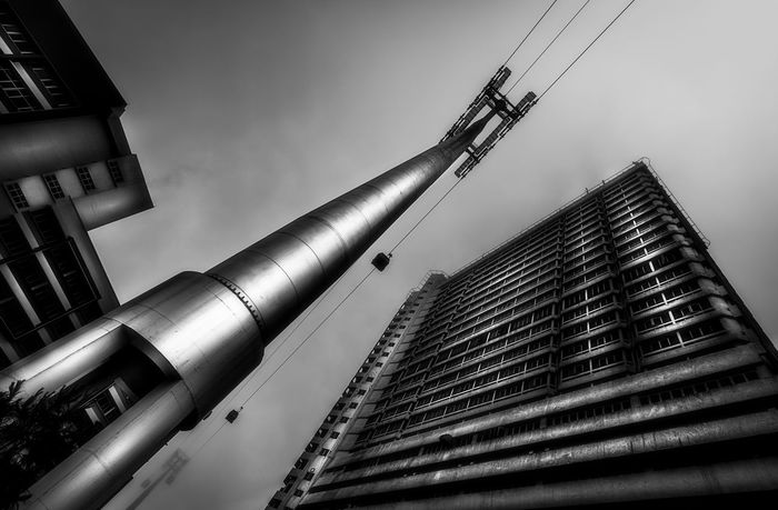Architecture Best EyeEm Shot Black And White Blackandwhite Building Exterior Built Structure Cable Cable Car City Day Eye4photography  EyeEm Best Shots Genting Highlands Kuala Lumpur Low Angle View Malaysia Modern No People Outdoors Pole Sky Skyscraper Travel Travel Destinations Traveling