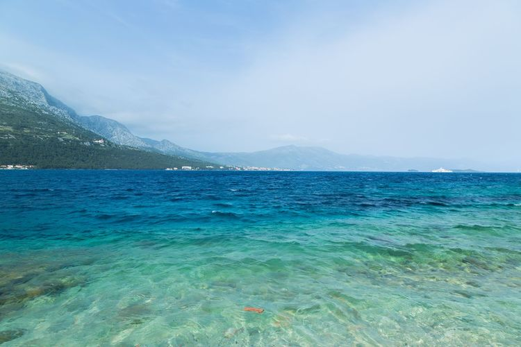 Travelling in Korcula, Croatia with the view of the Adriatic sea Croatia Korčula Adriatic Sea Beauty In Nature Blue Croatian Croatian Holiday Day Mountain Nature No People Outdoors Scenics Sea Sky Tranquil Scene Tranquility Water Waterfront Yacht Yachting