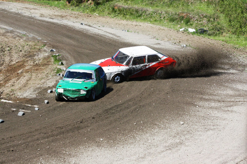 A simple car race - Cars Competition Contests Damaged Day Dirt Road Event First Eyeem Photo Hello World Land Vehicle MeinAutomoment Mode Of Transport Non-urban Scene Old Old Car Old Cars On The Move Outdoors Race Racing Road Skid Slip Sideways Speed Transportation