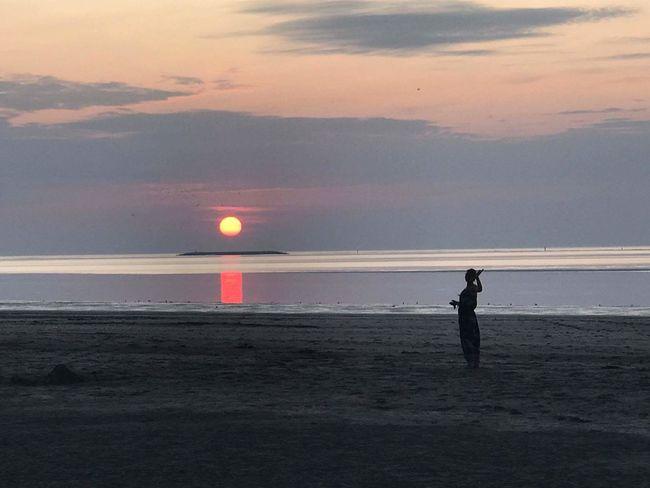 Honfleur, France Honfleur Beach Nature Sea Soleil Couchant Normandie, France Normandy