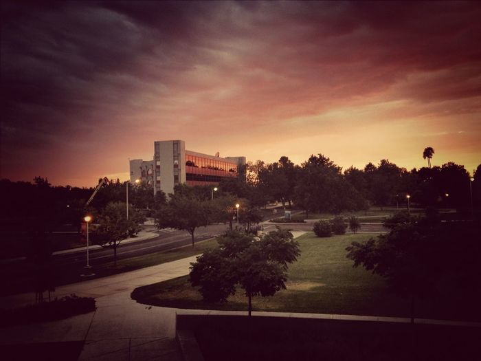 First photo on EyeEm. Sunset over Fresno State on July 10, 2013