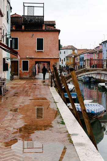 Venice Venice, Italy Building Exterior Built Structure Architecture Water Building Residential District Nautical Vessel Transportation Mode Of Transportation Canal City Day Nature Sky Outdoors Travel Travel Destinations Reflection No People Wooden Post