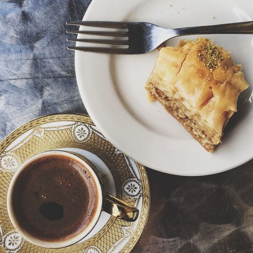 sweet delight ❤️ Turkish coffee and baklava Showcase: December December Oaktreeshutterbug Tomate_pauline NOLA Magazinestreet Coffee Time Coffee ☕ Coffee And Sweets Coffeeaddict