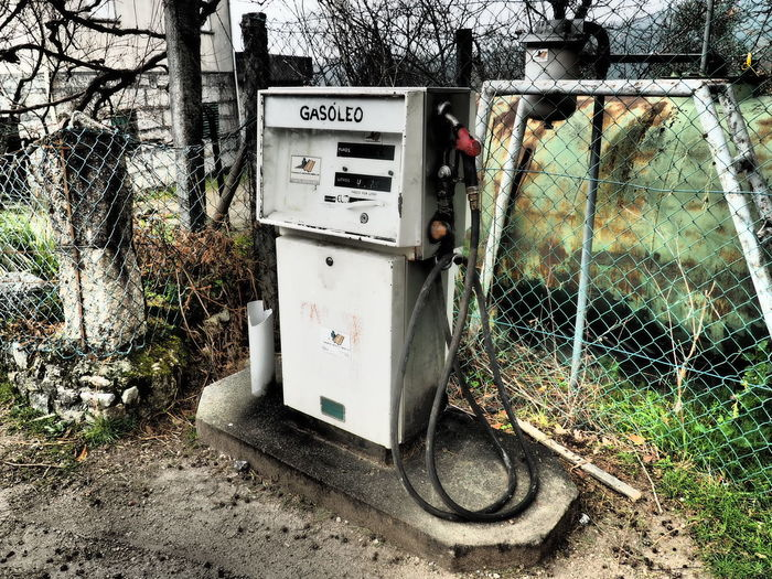 Tree Day Communication Outdoors Technology Text No People Close-up Gasstation Gas Station Vintage Geres Portugal Minho The Street Photographer - 2017 EyeEm Awards