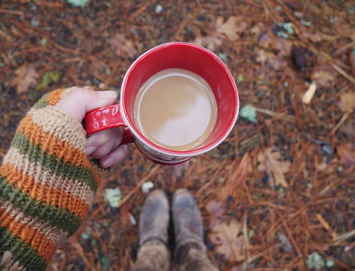 Coffee Cup Coffee Cup Rustic Campinglife Outdoors Autumn colors Coffee Time Looking Down Boots Mittens Cozy 10
