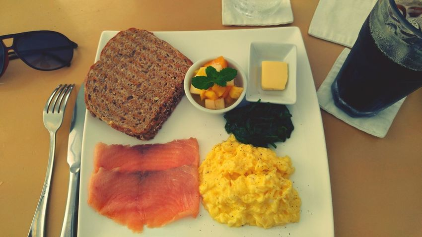 Boracay Philippines Breakfast Lemoni Cafe Scrambledeggs Spinach Whole Wheat Bread Norwegian Salmon Black Coffee The Essence Of Summer