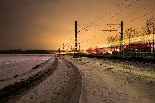 Train Nightphotography Sbahn Late Night Take Photos Snow ❄ Night Photography EyeEmBestPics EyeEm Best Shots Germany