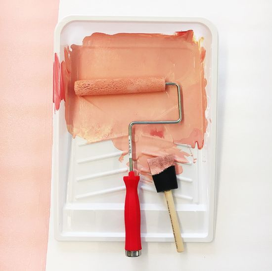 Acrylic Millennial Pink Pink Renovation Art Close-up Craft Day Indoors  No People Paintbrush Painting Red White Background Colour Your Horizn