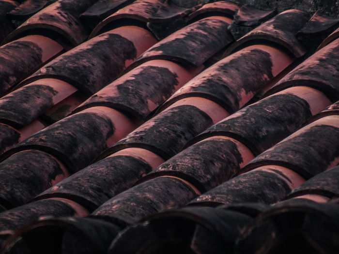 Full frame shot of roof tile