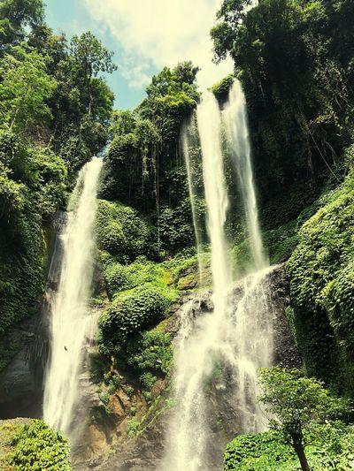 Bali Waterfall Water Motion Spraying Nature Splashing Tree Beauty In Nature EyeEmNewHere