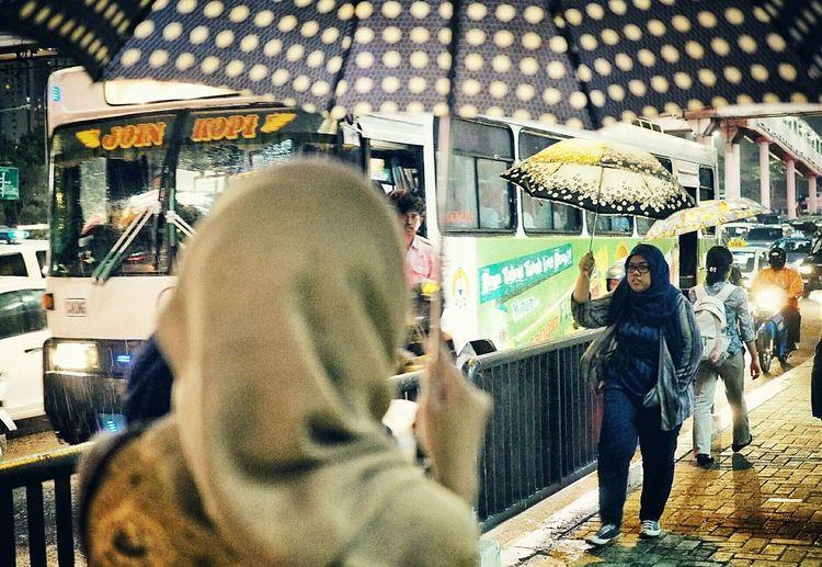 Umbrella Series: Three in a Row INDONESIA EyeEm Indonesia Umbrella Streetphotography Street Jakarta Nightphotography Everybodystreet Jakartastreetphotography Night Lights
