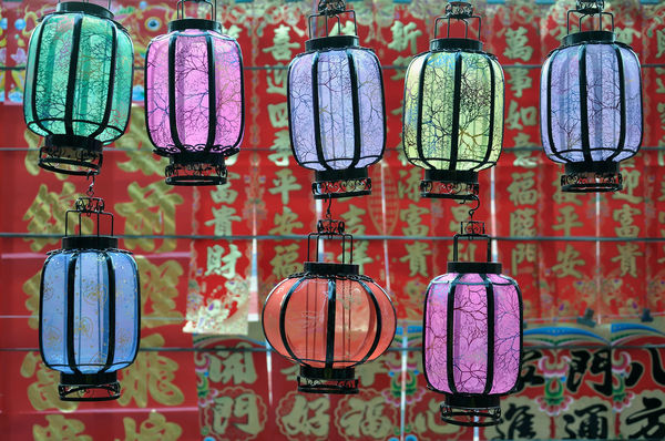 Chinese lanterns 8 Lanterns Chinese Culture Chinese New Year Choice Day EyeEmNewHere For Sale Hanging Market Market Stall Multi Colored Multicolored Lanterns No People Outdoors Retail  Variation Vertical Sentences