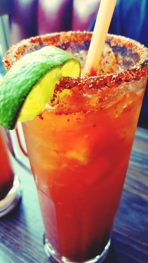 Michelada Time Yummy Lime Wedge Corona Michelada Downtown Fresno, Ca Lunch Time Drink Break Spicy Salt Spices