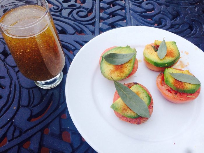 Healthy Food Loving Life! Chia Seeds Drink Tomato And Avo