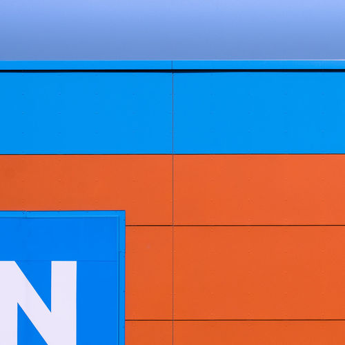 Facadedetail Architecture Built Structure Minimalism Minimalist Photography  Fujix_berlin Ralfpollack_fotografie Blue Wall - Building Feature Orange Color Pattern Multi Colored Full Frame Day Building Exterior Close-up Backgrounds White Color Textured  Vibrant Color Outdoors No People