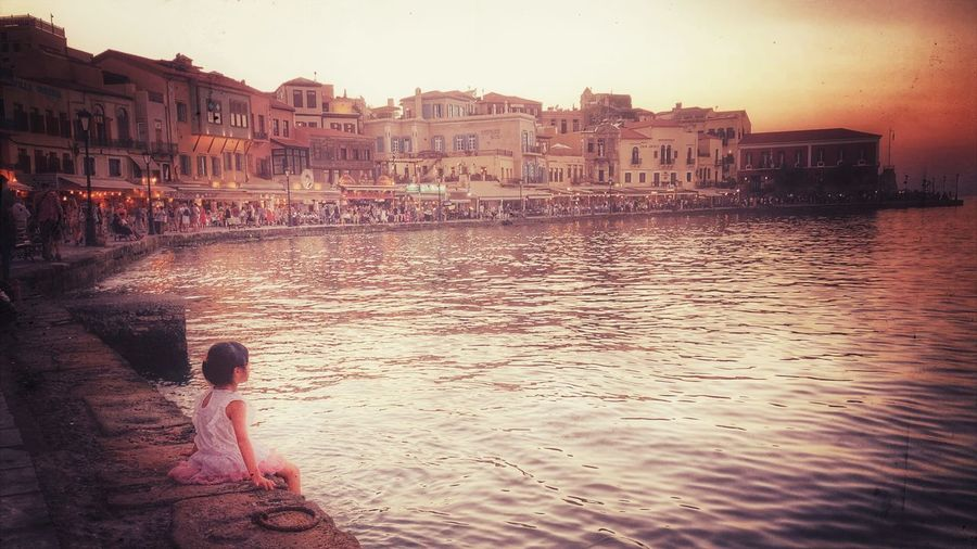 Child in the harbour Stylized Photo Look Looking Infinity ∞ Child Alone Destroyed Old Harbor Urban Vacation Greece Natural Beauty Coast Vacations Architecture Building Exterior Water Built Structure City Real People Nature Sky Building Sunset People Outdoors Sunlight Residential District Lifestyles My Best Travel Photo