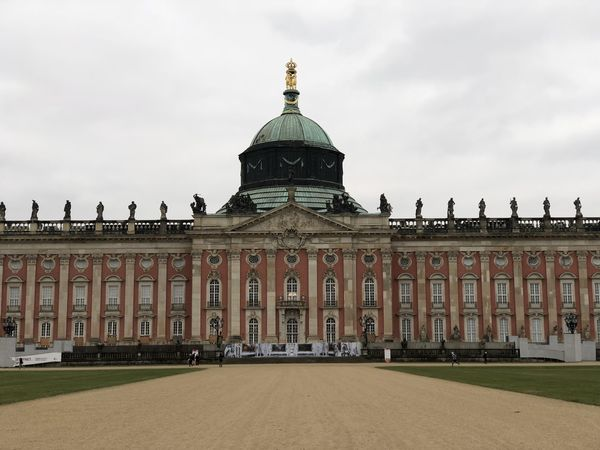 Architecture Building Exterior Built Structure City Cloud - Sky Day Dome Façade Government History No People Outdoors Sanssoucipalace Sky Tourism Travel Travel Destinations